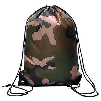 Camouflage Backpack, Drawstring Gym Bag, Travel Sport, Outdoor Lightweight