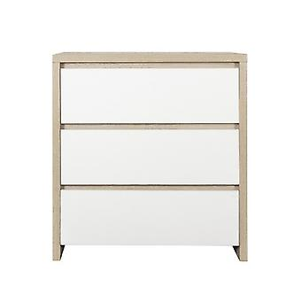 Tutti Bambini Modena Chest Changer - White and Classic Oak