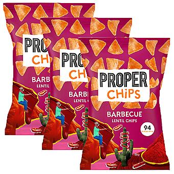 3 x 85g Barbecue BBQ Carême Chips Crisps Partager Sac Chipote Pepper Snack Vegan Treat Nibble