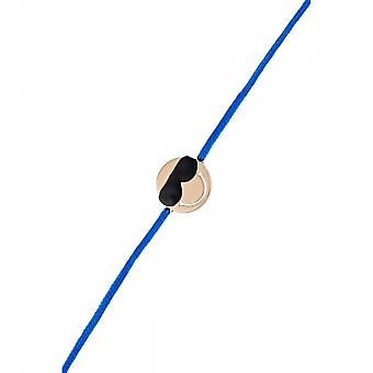 Smiley pink vermeil cord bracelet and blue cord 'apos;Cool'apos;