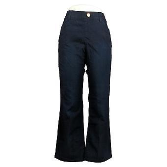 IMAN Global Chic Mujeres's Petite Jeans Ilusión Denim Bootcut Azul 734928