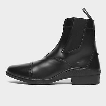 New Brogini Men's Tivoli Front Zip Jodhpur Boots Black