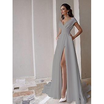 Modest V-neck Wedding Dress ( Set 1)