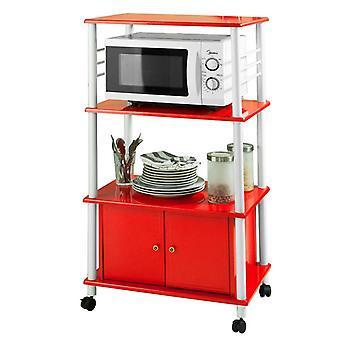 SoBuy rouge cuisine meuble de rangement avec portes, FRG12-R