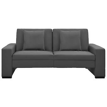 vidaXL sofá cama gris piel sintética