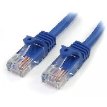 Câble de raccordement StarTech Cat5e avec connecteurs RJ45 sans accroc 5 m Bleu