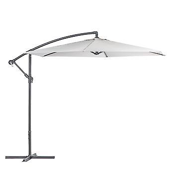 Cantilever Garden Parasol Waterproof Patio Sun Shade Umbrella 2.95 x 2.5m Grey
