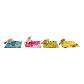 Pörröinen lelu DKD Kodin sisustushuopa Polyesteri (29 x 40 x 7 cm) (4 kpl)