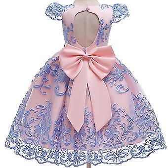 90Cm rosa Kinder formelle Kleidung elegante Partei Pailletten Tutu Taufe Kleid Hochzeit Geburtstagskleider für Mädchen fa1784