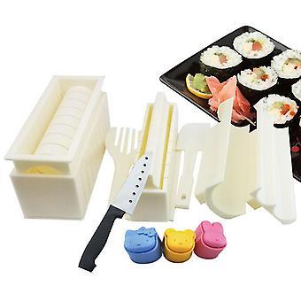 10pcs Sushi Making Kit Home Restaurant Sushi Mold Rice Roll Shaper