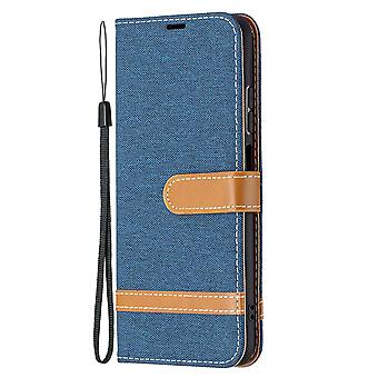 Folio Flip Cover Leather Case For Xiaomi Redmi Note 10 4g Navy Jeans
