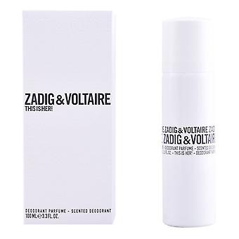 Déodorant de pulvérisation C'est son Zadig et Voltaire (100 ml)