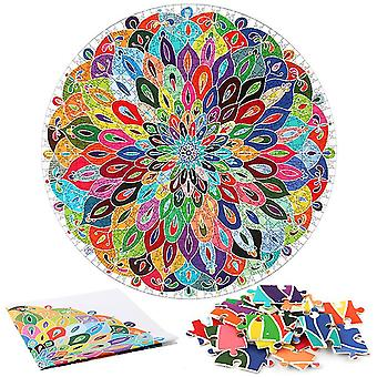 Colorful mandala Jigsaw Puzzle  Unique Shape Jigsaw Pieces Adults Kids Toy Gift