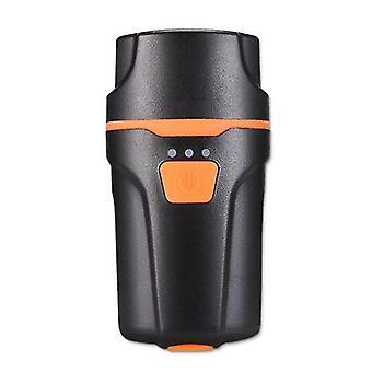 Bike Mountain -valot, ajovalot USB-latauksen häikäisyllä (musta)
