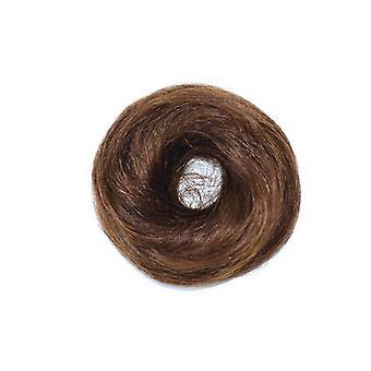 2 Pcs Short Curly Chignon Straight Messy Bun Elastic Band Hair Bun Hairpiece Donut Roller Bun Fake