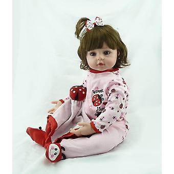 Wedergeboorte pop 60cm grote 6-9month herboren tollder pop levensecht geboren baby bonecas bebe kind speelgoed meisje ilicone herboren baby poppen schattig cadeau
