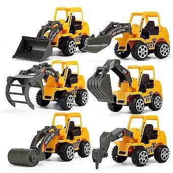6個/ロットミニエンジニアリング車ショベルブルドーザーおもちゃの子供の車モデル