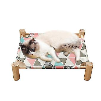 Cat Bed , Cat Hammock Solid Wood Canvas Can Be Removed(Pink)