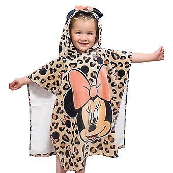 Disney Girls Minnie Mouse Costume da bagno e poncho Set