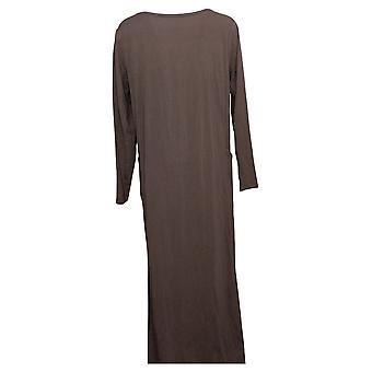 Modern Soul Dress Jersey Knit Maxi w/ Pockets Purple 671349