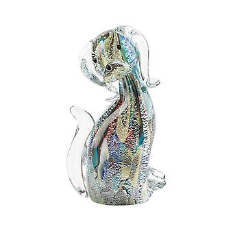 Accent Plus Art Glass Figurine - Multi-Color Dog, Pack of 1