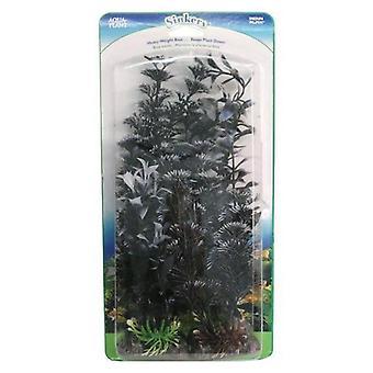 Penn Plax Black Pearl Aquarium Plant Value Pack Assorted Sizes - 4 count
