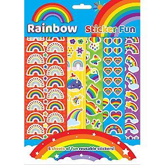 Regnbue gjenbrukbart klistremerke morsomt sett klistremerker gjenbrukbare