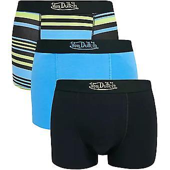 Von Dutch Mens Stripe 3 Pack Elasticated Boxer Shorts Underwear Boxers - Multi