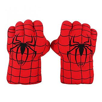 28-30cm Avengers Super Heros Spider-man Captain America Thanos Hulk Iron Man Plush Gloves Performing Props Toys Great Gift  A Pair Spiderman