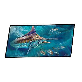 Door mats liquid metal black marlin indoor or outdoor runner mat 28x58