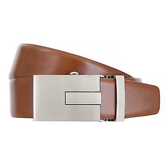 BERND GÖTZ Belt Men's Belt Leather Belt Automatic Cognac 4834