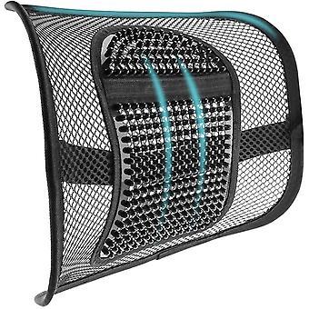 Mesh Rücken Lendenwirbelstütze Einstellbare Massage Rückenstütze Sitzkissen mit atmungsaktivem Mesh für Bürostühle Autositze