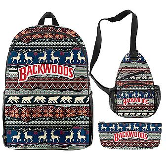 Christmas New Fashion Backpack Three Pieces