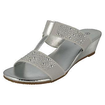Ladies Savannah Heeled Mule Sandals F10736