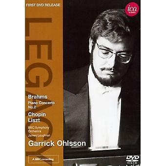 Garrick Ohlsson - Plays Brahms Chopin Liszt [DVD] USA import