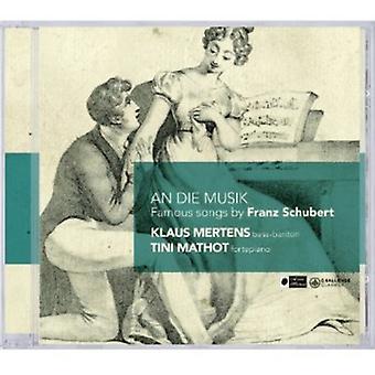R. Schubert - An Die Musik: Famous Songs by Franz Schubert [CD] USA import