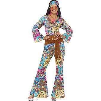Hippie Kostium 4-częściowy Damski Kwiat Moc Hippy
