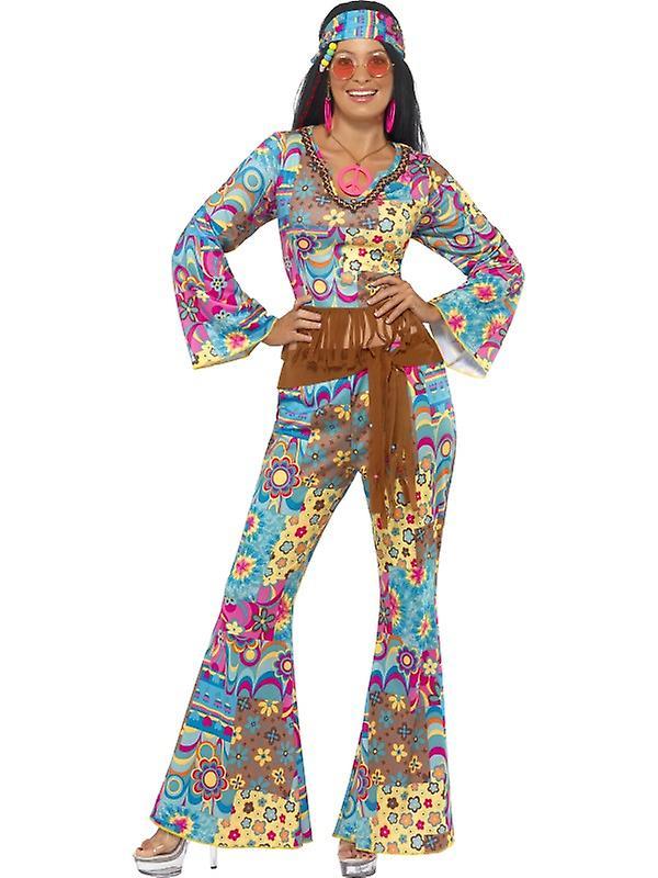 new concept f36fd 4392d Costume hippie 4 signore pezzo di vestito hippy flower power