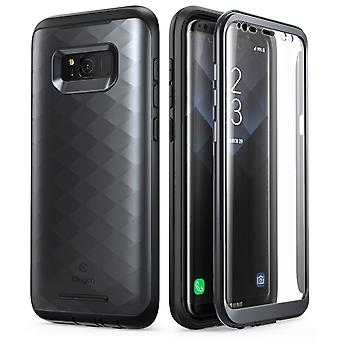 Samsung Galaxy S8 Case, Clayco Hera Series Full-body Rugged Case with Built-in Screen Protector for Samsung Galaxy S8