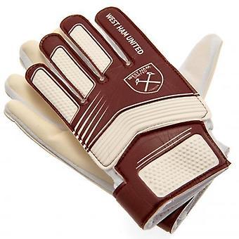 West Ham United Goalkeeper Gloves Yths