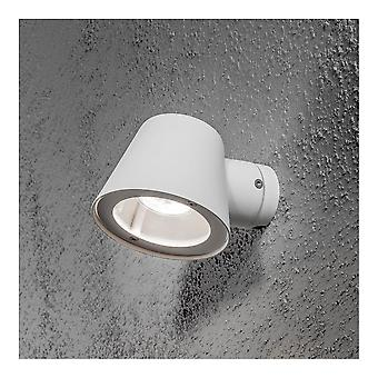 Konstsmide Trieste blanc soucoupe Down Wall Light