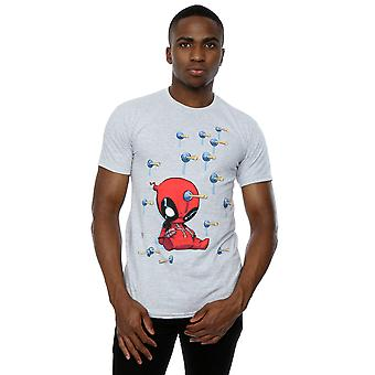 Marvel Men's Deadpool Cartoon Knockout T-Shirt