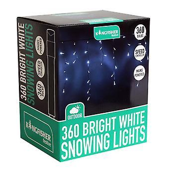 360 johti kirkkaan valkoista lunta Xmas Decoration sisä- tai ulkotiloissa jouluvalot