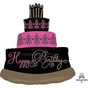 アナグラム Supershape すばらしいお祝いケーキ箔バルーン