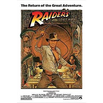 Jakten på den försvunna skatten - Indiana Jones affisch Skriv (24 x 36)