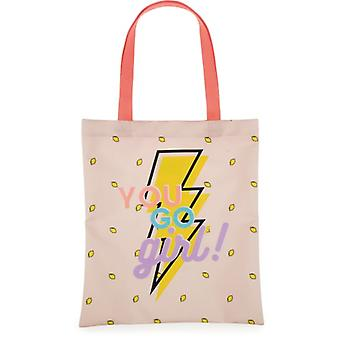 Shopper katoen Awesome Girls: 38x33 cm (172FIT773)