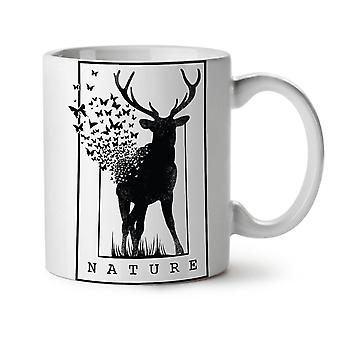 Deer Butterfly Nature NEW White Tea Coffee Ceramic Mug 11 oz | Wellcoda