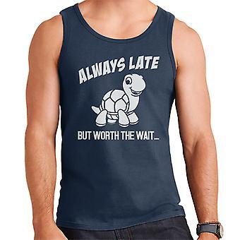 Tortoise Always Late But Worth The Wait Men's Vest