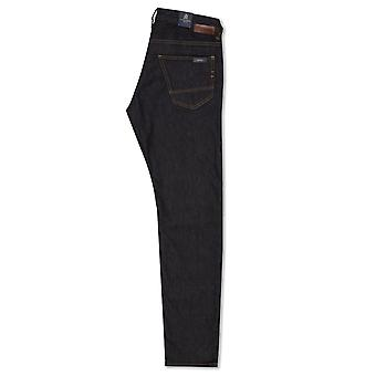 Guide London Tapered Fit Stretch Denim Jeans