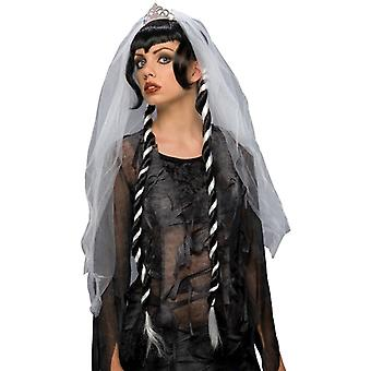 Gothic Ghost Bride Vampiress Halloween Day of The Dead Women Costume Wig